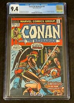 Marvel Comics Conan Le Barbare #23 Cgc 9.4 Blanc Cassé Au Blanc 1er Rouge Sonja