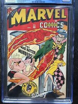 Marvel Mystery Comics #80 Cgc Fn+ 6,5 Ow-w 1st Cap In Marvel Mystery (1/47)