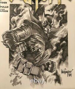 Mico Suayan Signé Original Cgc 9.8 Ss Batman Sketch Comic Book Noir Cbcs Joker