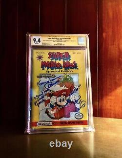 Nintendo Comic, Mario Bros, Valiant, Édition Spéciale Autographiée, #1, Cgc 9.4