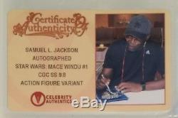 Samuel L. Jackson Variante De Figurine D'action Signée Cgc Ss 9.8 Mace Windu # 1