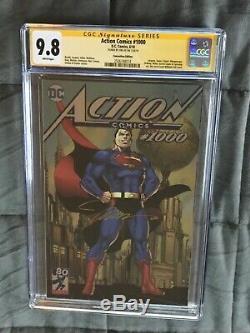 Signé Jim Lee 9,8 Cgc Ss Action Comics 1000 Superman Batman Sdcc Variante Feuille 1