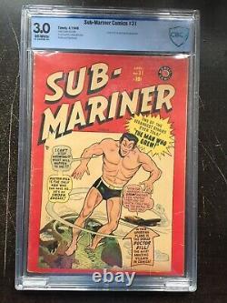 Sous-mariner Comics #31 Cbcs Gd/vg 3.0 Ow Rare (4/49)