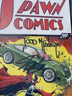 Spawn #228 Cgc 9,8 Ss Action Comics #1 Hommage Signé Par Todd Mcfarlane Stan Lee