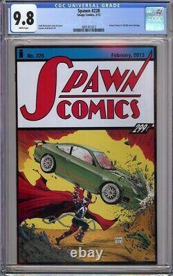 Spawn 228 Cgc 9,8 Todd Mcfarlane Action Comics 1 Hommage Faible Tirage