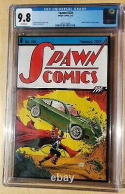 Spawn #228 Cgc 9.8 Todd Mcfarlane Action Comics #1 Hommage, Scarce À Faible Impression
