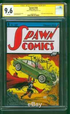 Spawn 228 Cgc Ss 9.6 Todd Mcfarlane Signé Action Comics 1 Hommage Couverture