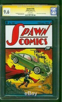 Spawn 228 Cgc Ss 9,6 Todd Mcfarlane Signés Action Comics 1 Hommage Couverture