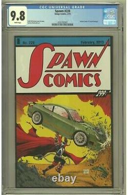 Spawn #228 Image Comics 2013 Cgc 9.8 Action Comics #1 Cover Hommage (superman)
