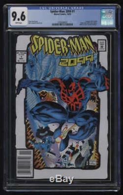 Spider-man 2099 # 1 2e Impression Cgc 9,6 W Toy Biz Pgs Action Figure De Comic Pack