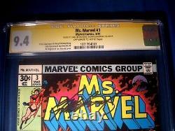Stan Lee Signé 1977 Mme Marvel #3 Ss Marvel Comics Cgc 9,4 Nm Le Plus Élevé