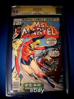 Stan Lee Signé 1978 Mme Marvel #14 Ss Marvel Comics Cgc 9,8 Nm/mt Uniquement