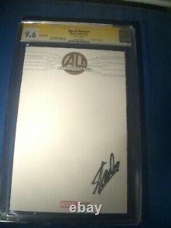 Stan Lee Signé 2013 Âge De Ultron #1 Ss Sketch Marvel Comics Cgc 9,6 Nm+
