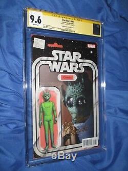 Star Wars # 12 Cgc 9.6 Ss Signé Par Paul Blake Variante De Figurine Greedo