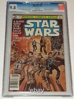 Star Wars #50 Cgc 9.8 Marvel Comics Août 1981 Édition De Kiosque À Journaux Sans Presse