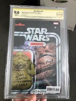 Star Wars # 51 Signatures Marvel Comics Jabba Figurine Variante X7 Cbcs 9.6