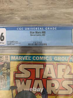 Star Wars #68 Boba Fett Cgc 9.6 Journal Pages Blanches Marvel Comics 1983