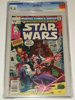 Star Wars #7 Cgc 9.6 Marvel Comics Janvier 1978 Édition De Kiosque À Journaux Non Pressée