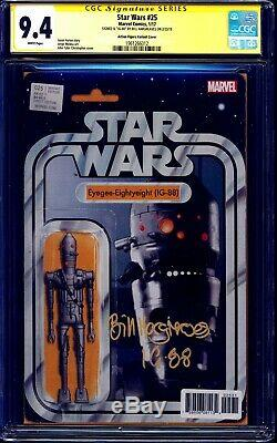 Star Wars N ° 25 Ig-88 Figurine Action Variant Cgc Ss Signé Par Bill Hargreaves Rare