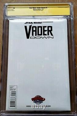 Star Wars Vader Down #1 Cgc Ss 9.8 Wonderworld Comics Jtc Action Figure Variante
