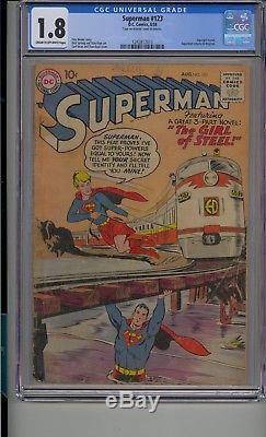 Superman # 123 Cgc 1.8 L'essai Sur Supergirl Prédit L'action Comics 252