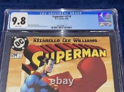 Superman #204 Cgc 9.8 Jim Lee Art DC Comics