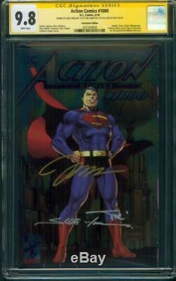 Superman Action Comics 1000 Cgc 3xss 9.8 Variante De Feuille De Jim Lee Sinclair Williams