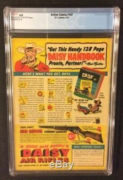 Superman Action Comics # 107 Comic Book Cgc 6.0 DC 1947 Golden Age 10 Cent De