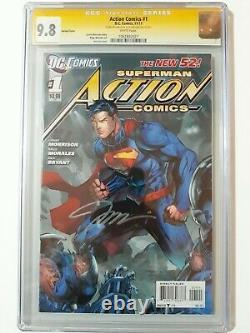 Superman Action Comics 1 Cgc Ss 9.8 Jim Lee Et Alex Sinclair