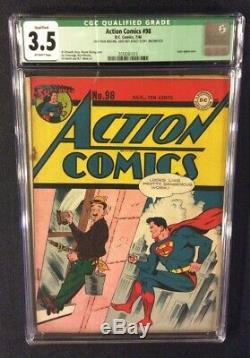 Superman Action Comics # 98 Comic Book Cgc 3.5 DC 1946 Golden Age 10 Cent Susie