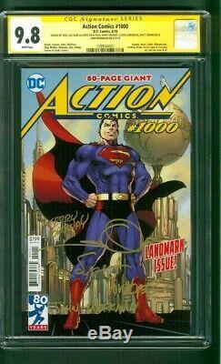 Superman Comics Action 1000 Cgc Ss 5x Signé 9.8 1er Imprimer Jim Lee Couverture Classique
