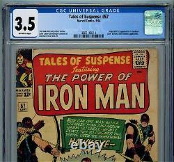 Tales Of Suspense #57 1964 Cgc 3.5 Première Apparition De Hawkeye Par Stan Lee Comic