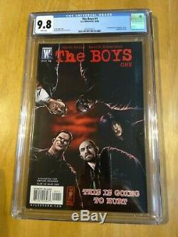 The Boys # 1 Cgc 9.8 1er Apparence Butcher Hughie Amazon 2006 DC Wildstorm Comic