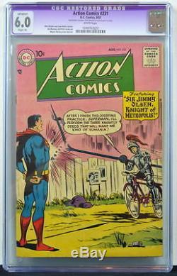 Thème D'action N ° 231 Cgc 6.0 Superman 1957