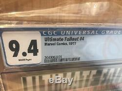 Ultime Fallout # 4,1st Imprimer, Cgc Graded 9.4,1st Miles Morales, Spiderman
