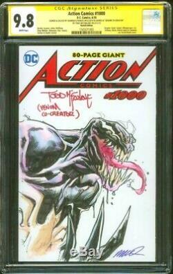 Venom 1 Cgc 2xss 9.8 Todd Mcfarlane Humberto Ramos Sketch Art Original