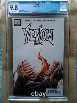 Venom # 3 1ère Apparition De Dieu De Knüll Symbiote, 1er Print, Cgc 9.8
