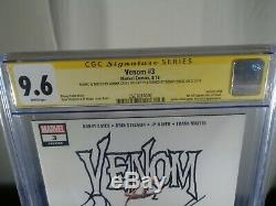 Venom # 3, Série Signature, 1er Imprimer, Donny Cates Signé Et Croquis, Cgc Année 9.6