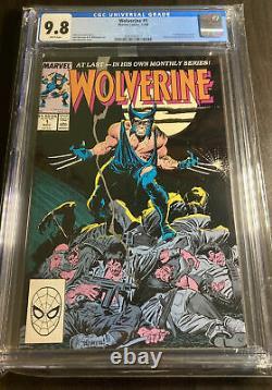 Wolverine #1 (1988) Cgc 9.8 Pages Blanciers 1re Comics De Marchandises De Patche D'apparance